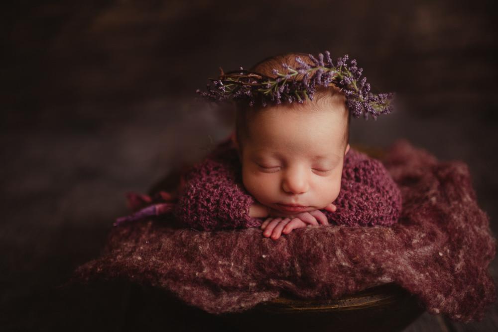 newborn girl flower crown