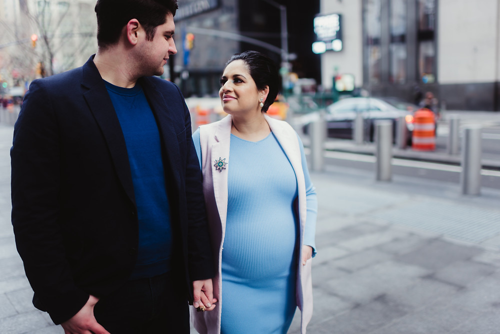 walking in NYC maternity