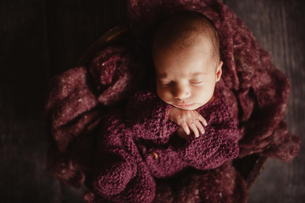 newborn girl purple