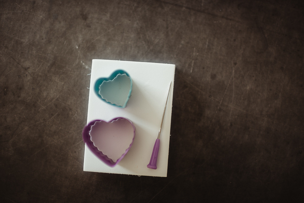 felting needle heart cookie cutter