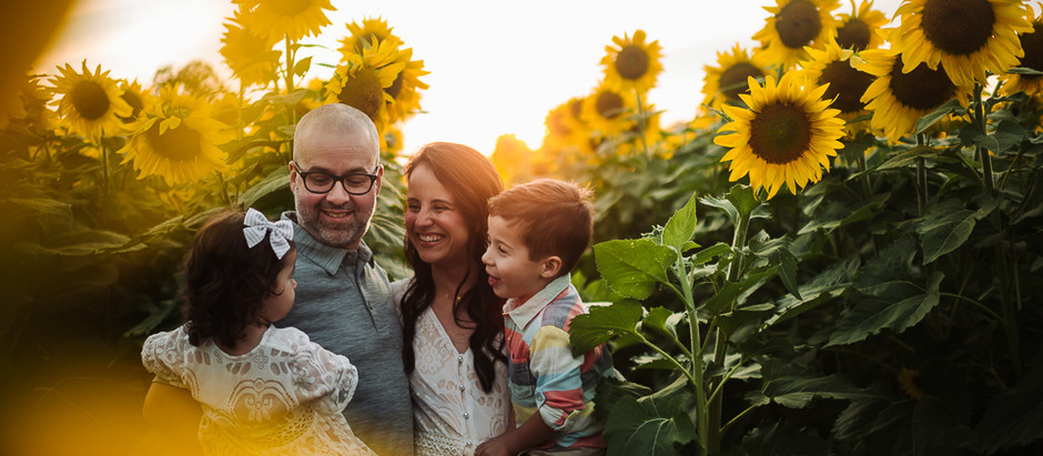 Sunset Sunflower Family Session