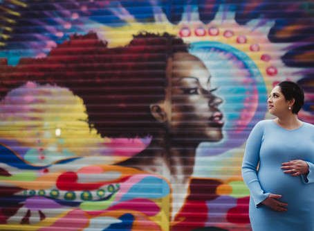 Colorful NYC Maternity Session