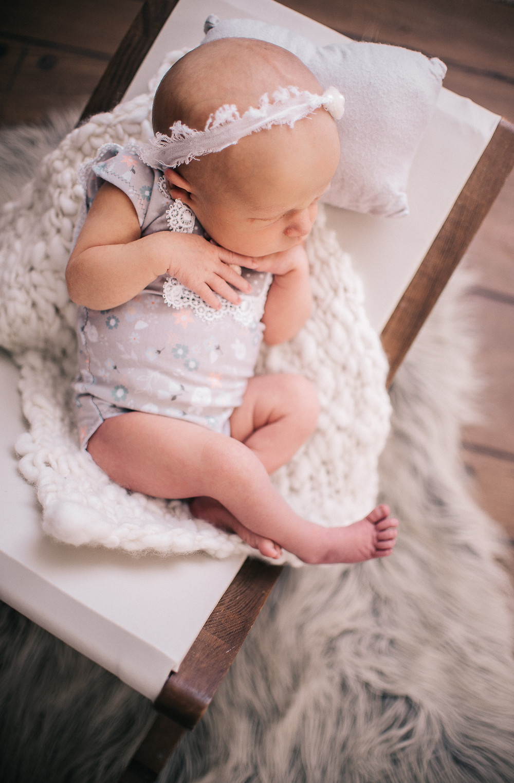 newborn girl photoshoot