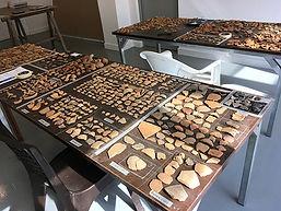 My pottery table, Koumasa Archaeological Project, Crete