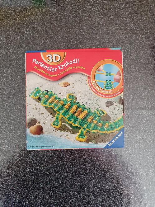 1 x 3D Perlentier Krokodil