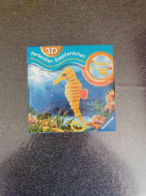 1 x 3D Perlentier Seepferdchen