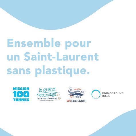 Le collaboratif pour un Saint-Laurent sans plastique encourage les Québécois et Québécoises à se mobiliser à l'égard de l'environnement, en commençant par chez soi! Comme tous les petits gestes comptent, et s'additionnent, chaque déchet intercepté ou évité contribue à un fleuve et des océans plus sains.