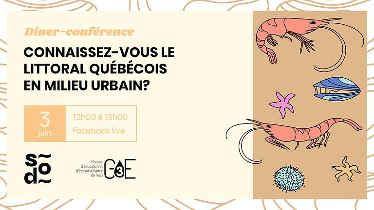 Dîner-conférence - Connaissez-vous le littoral québécois en milieu urbain?