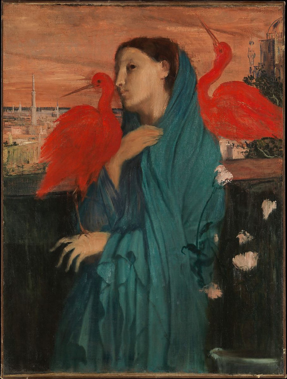 Young Woman with Ibis, Degas, c1861