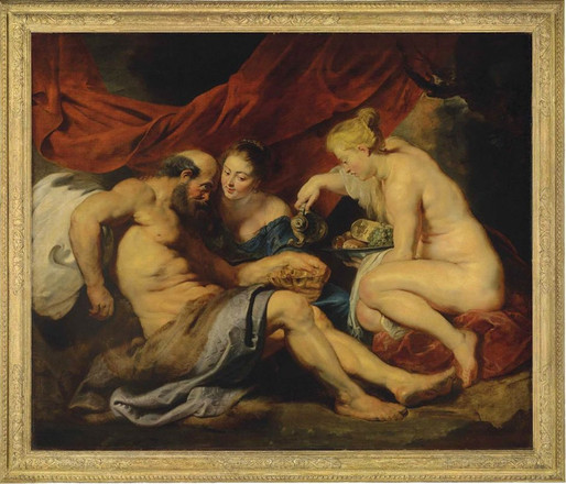 Lot and His Daughters by Sir Peter Paul Rubens, 1613-14