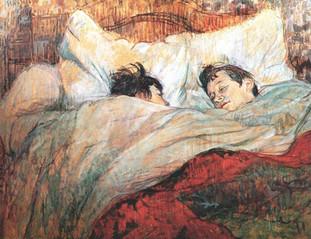 Le Lit (The Bed), by Henri de Toulouse-Lautrec, 1893