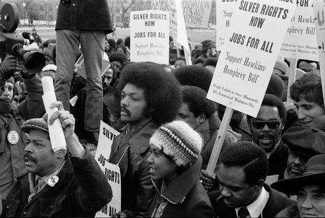Jesse Jackson at March for Jobs and Justice, 1975