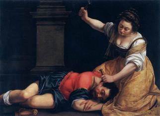 Artemisia Gentileschi, Jael and Sisera, c. 1620