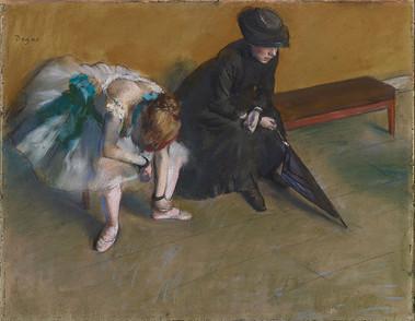 Edgar Degas 1882 drawing ''Waiting''