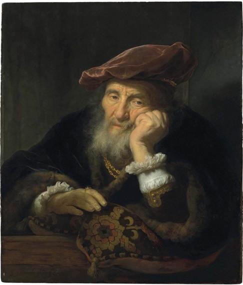 An old man at a casement by Govaert Flinck, 1646