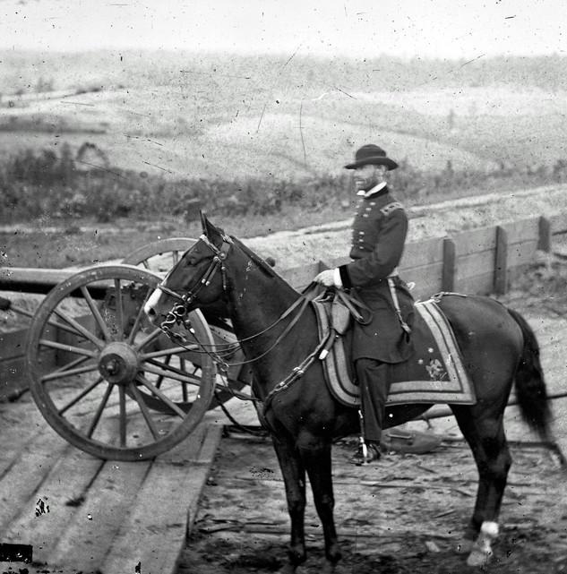 Atlanta, Ga. Gen. William T. Sherman on horseback