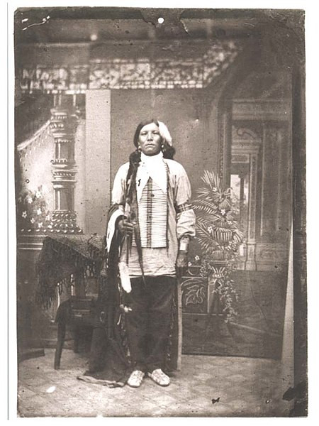 Crazy Horse in 1877 shortly before his death