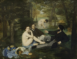 Luncheon on the Grass by Édouard Manet, 1863