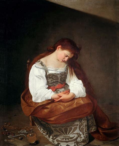 Penitent Magdalene, Caravaggio, 1597