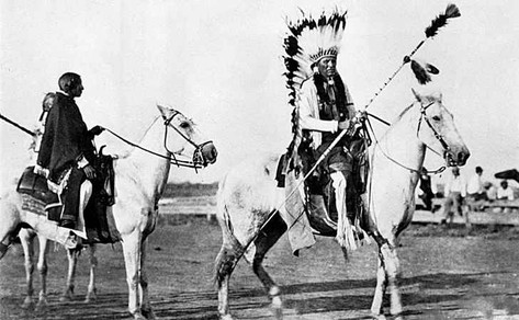late 1800s, the great Comanche chief Quanah Parker.