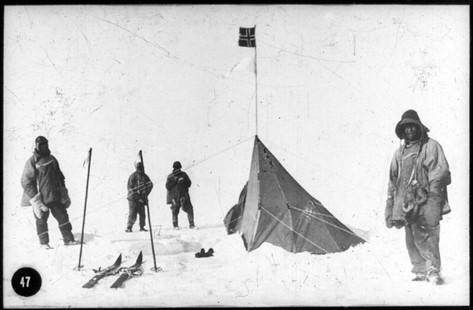 Captain Robert Falcon Scott, at the S. Pole, 1912