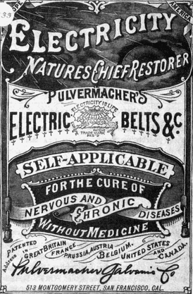 Pulvermacher's Electric Belts, for the cure of nervous and chronic diseases