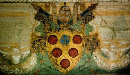 The Medici Coat of Arms in the Vatican Museum, Vatican City.jpg