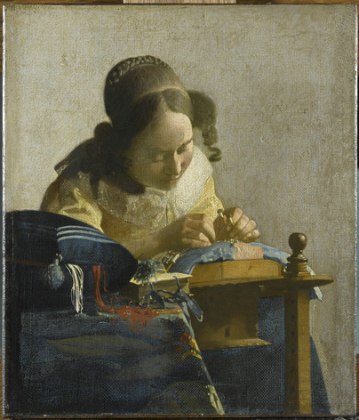 Vermeer, The Lacemaker, c1670
