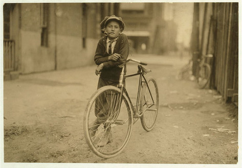 Messenger boy working for Mackay Telegraph Company. Said fifteen years old. Exposed to Red Light dangers. Waco, Texas, c1910