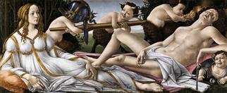 Venus and Mars, Botticelli, late 1400s