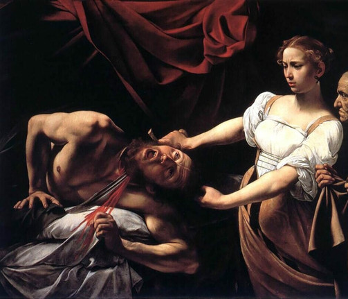 Judith Beheading Holofernes by Caravaggio, 1598