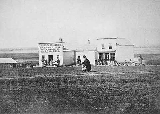 Photo of Lincoln, Nebraska; as seen in 1868