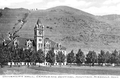 University Hall at the University of Montana, 1900