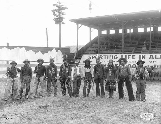 Wild West show, Pay Streak, Alaska Yukon Pacific Exposition, Seattle, 1909