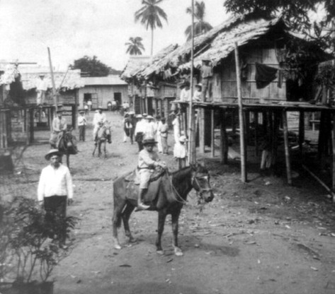 Houses of Laborers, La Clementina, Ecuador by Underwood, ca. 1907