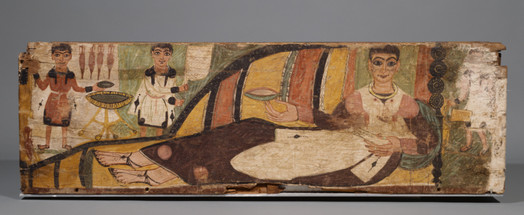 a Painted Sarcophagus, Romano-Egyptian, 4th century A.D.