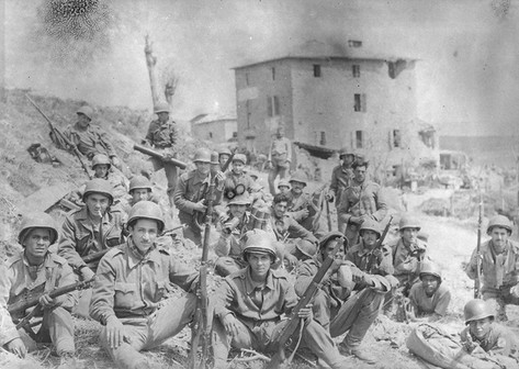 Brazilian soldiers celebrate Brazilian Independence Day in Italy during World War II. Sept