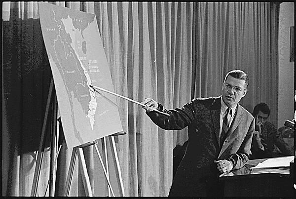 Secretary of Defense Robert McNamara Briefing, Vietnam, 1965