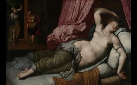 Paris Being Admitted to the Bedchamber of Helen, Jacob de Backer, 1590