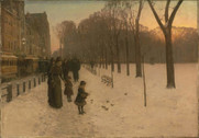 Childe Hassam, At Dusk (Boston Common at Twilight), 1885-86