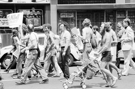 Gay Rights Demonstration in New York City by Warren K. Leffler, 1976