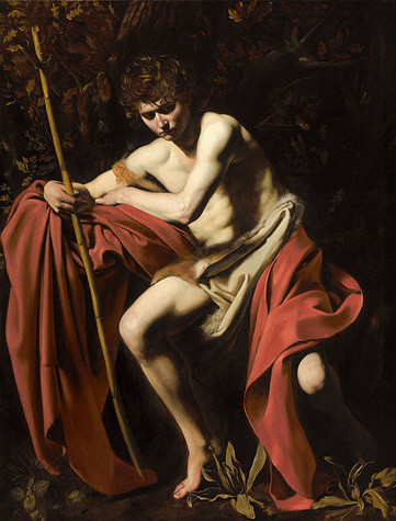 """""""Saint John the Baptist in the Wilderness"""" by Caravaggio, 1605"""