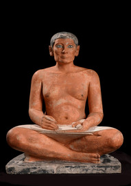 Sculpture of the Seated Scribe , c2500 BC, Ancient Egyptian