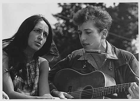 Bob Dylan and Joan Baez at 1963 March on Washington