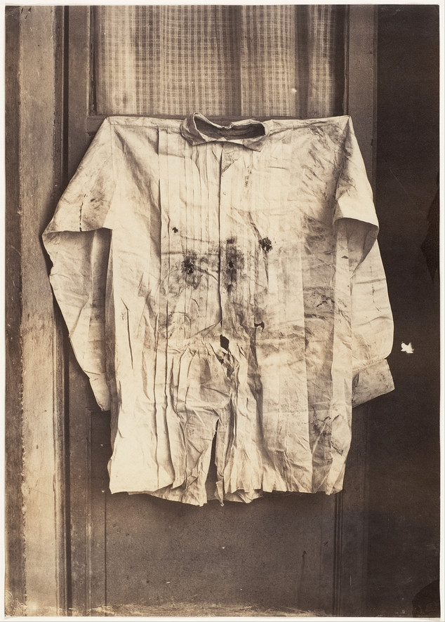 the bullet-riddled shirt of the Austrian Archduke Maximilian I, who was appointed Emperor of Mexico by Napoleon III in 1864, executed in 1867