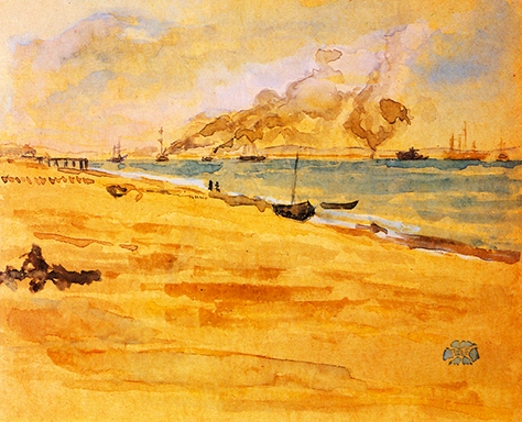 James Abbott McNeill Whistler, Study for the Mouth of the River, 1876