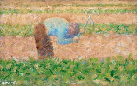 Man with a Hoe (1882) by Georges Seurat