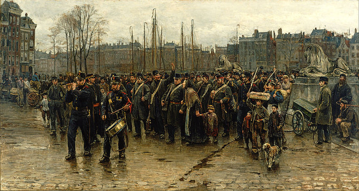 Isaac Israels,Transport of colonial soldiers, 1883