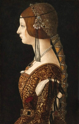 Bianca Maria Sforza by Ambrogio de Predis, ca. 1493