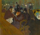 """At the Moulin Rouge"""" by Henri de Toulouse-Lautrec, c1890"""
